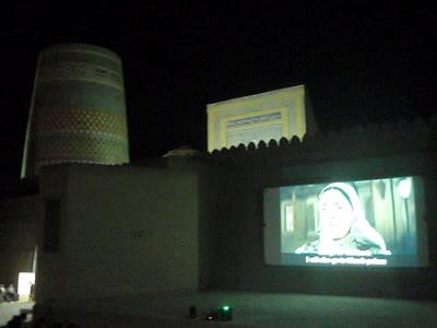 khiva openair cinema, uzbek art tours