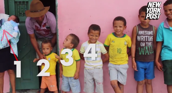 Watch Video: Brazilian Couple has 13 sons and won't stop having children till they have a daughter
