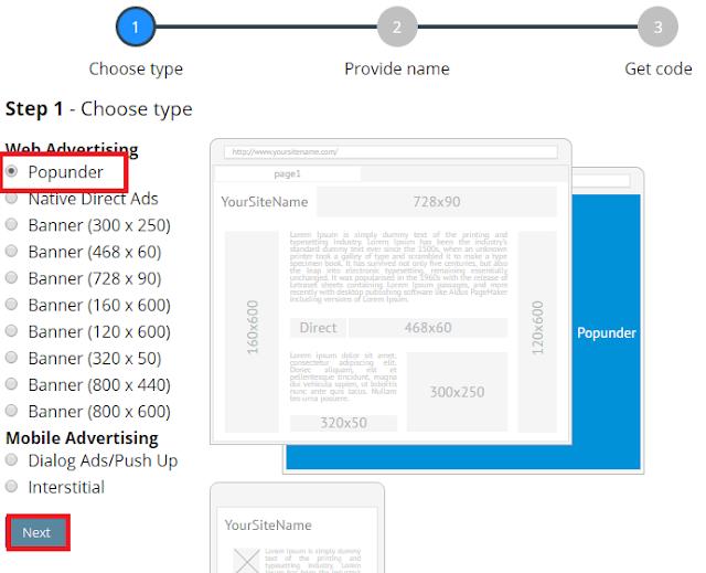 Cara Daftar , Verifikasi dan Pasang Iklan Propeller Ads