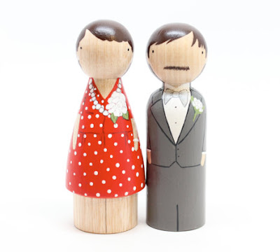 fifth anniversary wooden gift peg dolls