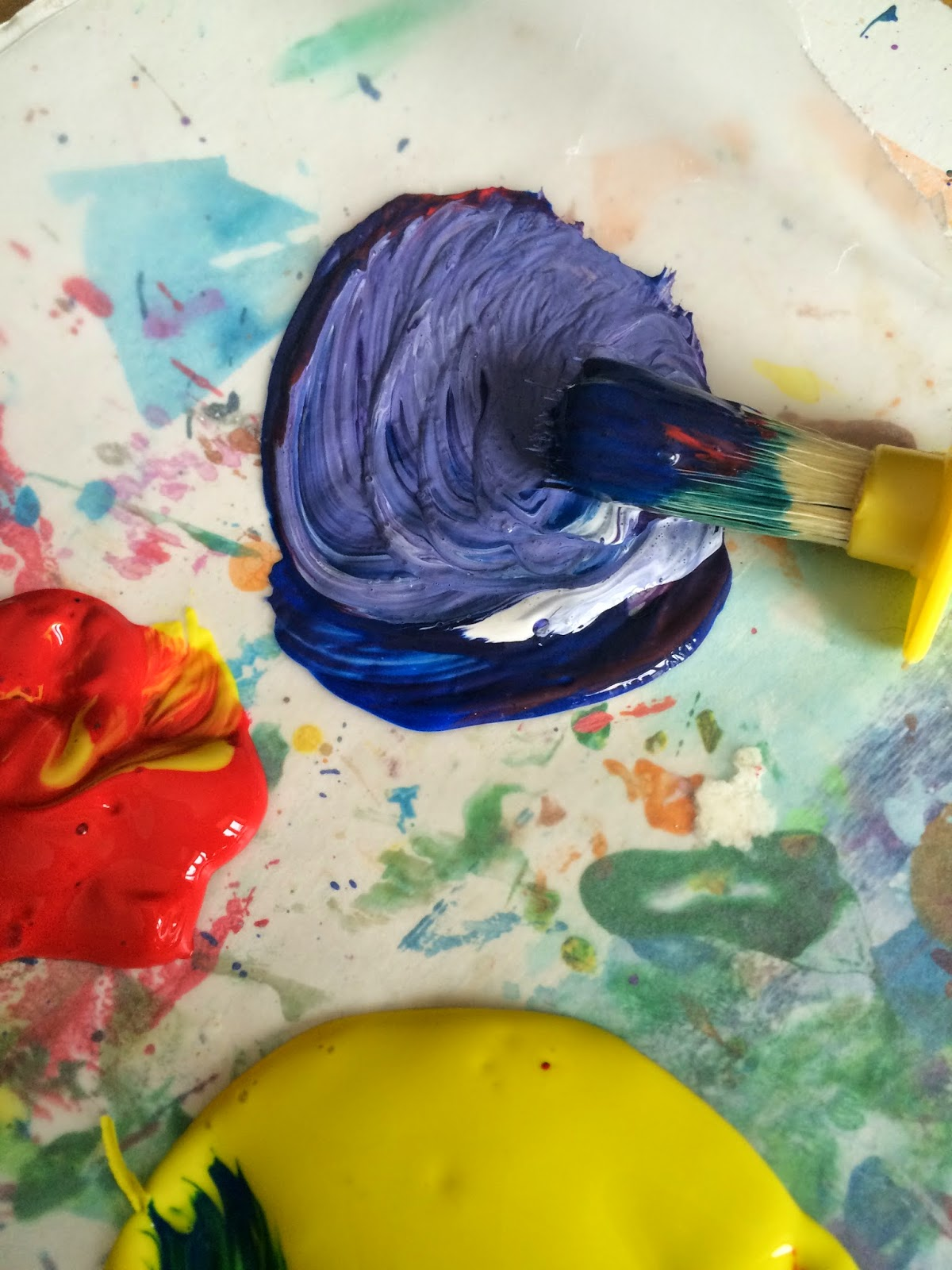 Mini Monets And Mommies Rainbow Color Mixing Art Activity