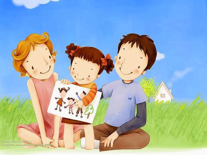 10 Gambar Kartun Keluarga Bahagia