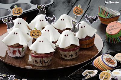receta magdalena muffing fantasma fondant blanco ojos chocolate recetas halloween blog mimuselina