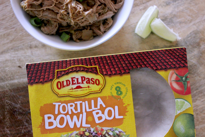 Slow Cooker Pulled Pork Taco Bowls