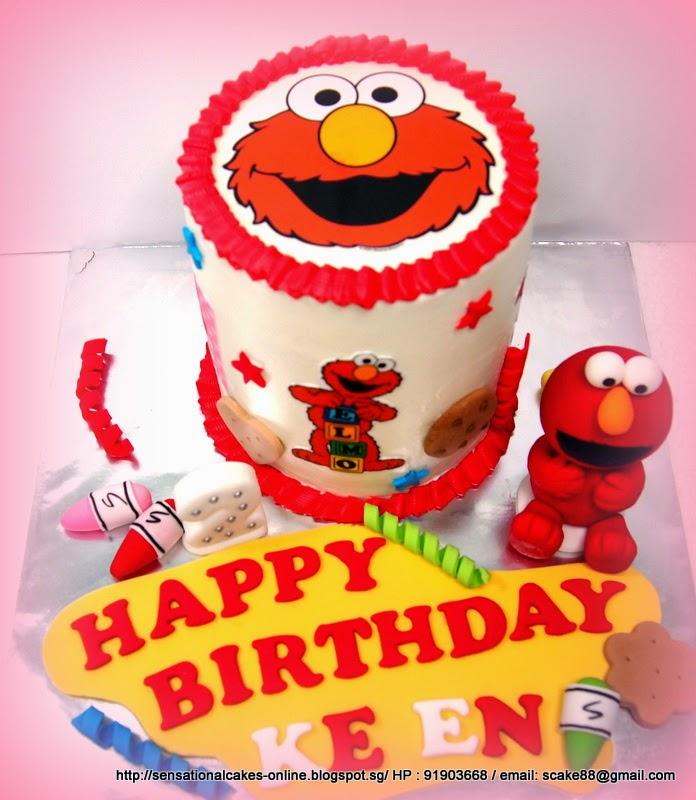 The Sensational Cakes Elmo Rainbow Cake Singapore Baby