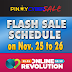 Pinoy Cyber Sale Flash Sale Schedule on November 25-26