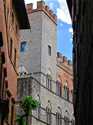 Medieval street in Siena