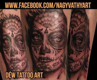 Sugar Girl portré tetoválás By : Nagyvati David tattoo Szeged