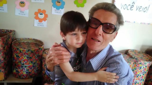 Foto de selfie do Miguel somente com o diretor Cemin!