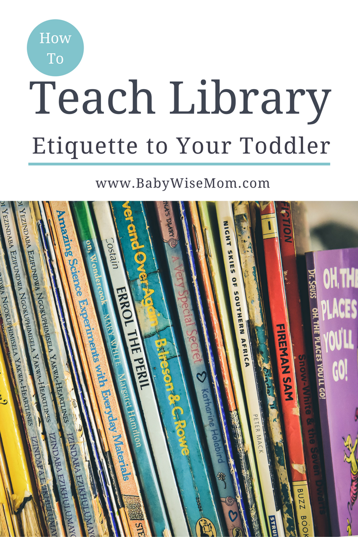 How to teach library ettiquette