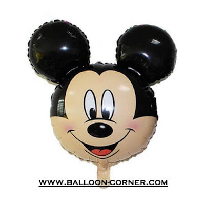 Balon Foil Kepala Mickey Mouse Mini