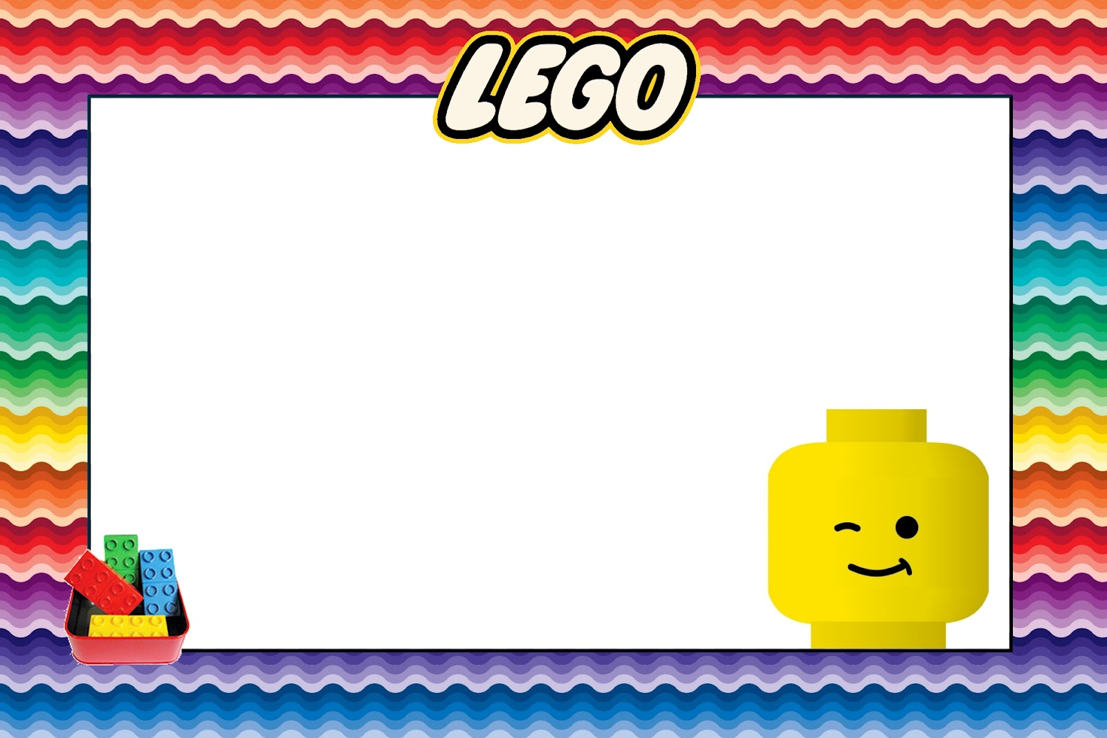 Lego Free Printable Invitations. | Oh My Fiesta! in english