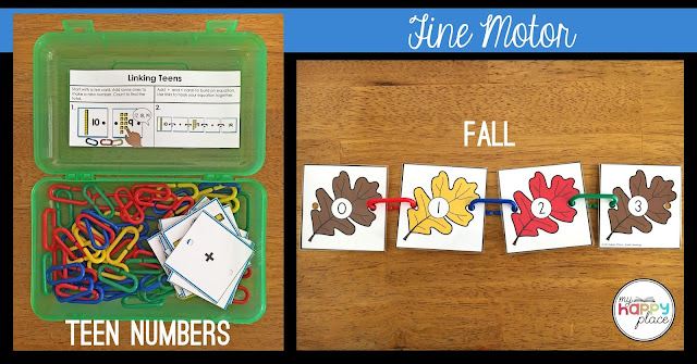 learning links, math links, fine motor activities