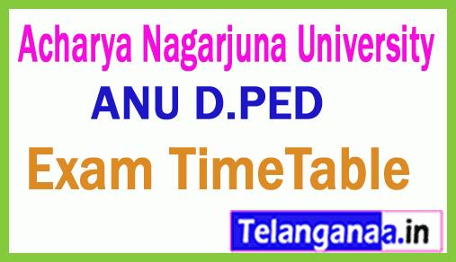 Acharya Nagarjuna University D PED Exam Time Table