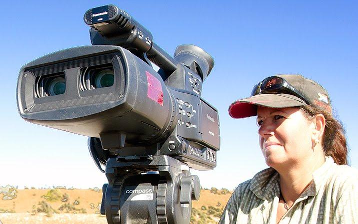 Documentalista alemana en el canal de ataque de orcas en Punta Norte