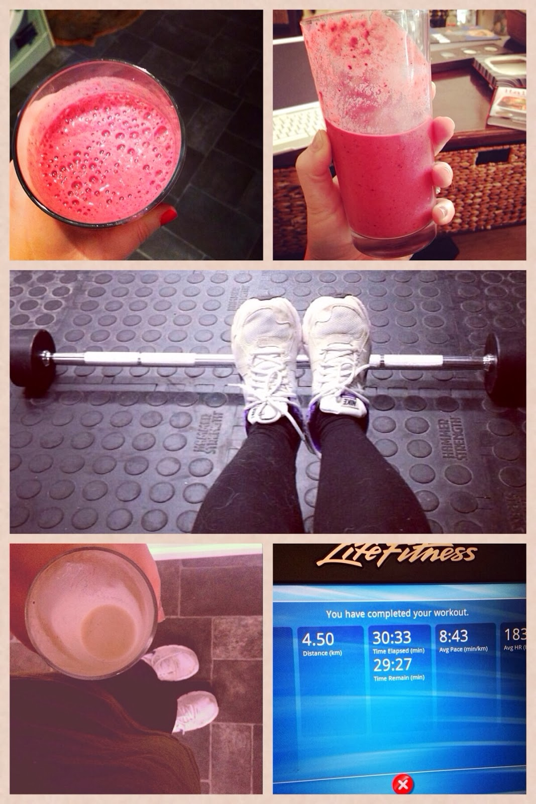 Homemade Smoothies and workout images
