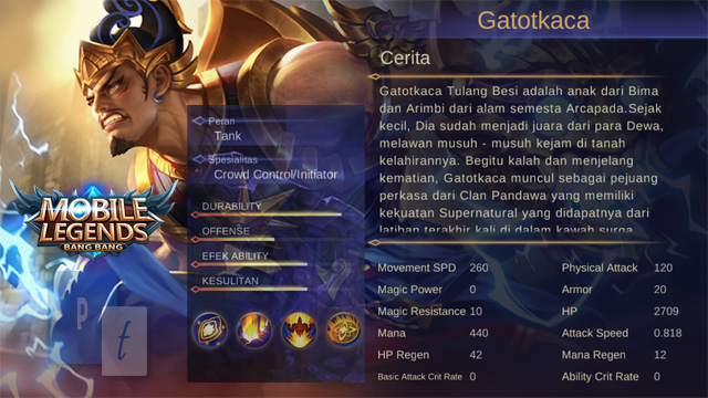 Hero Gatotkaca Mobile Legends