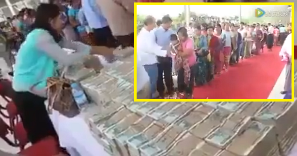 Dying Myanmar Millionaire Gives Out His Money To The Poor And Needy Because He Won't Be Able To Bring Riches To Afterlife!