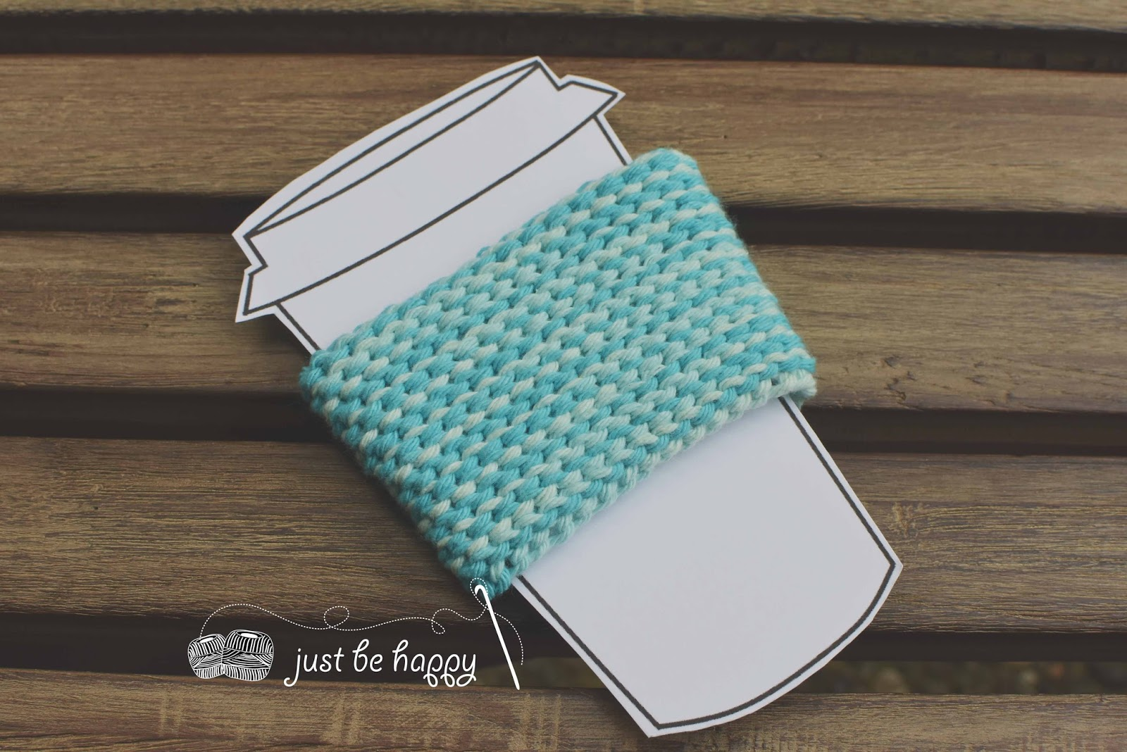 Just be happy!: Garter Stitch Coffee Sleeve - Free Crochet Pattern