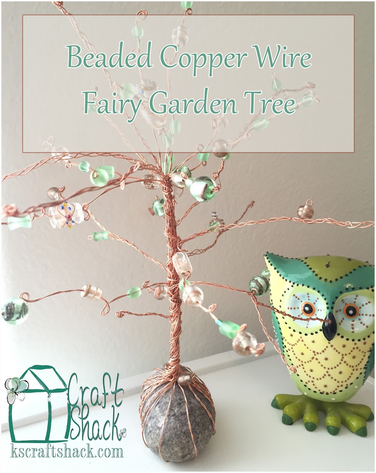 Beaded copper wire fairy tree. - Craft Shack Chronicles