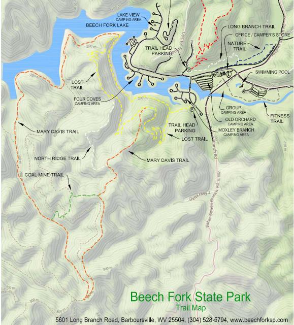 Beech Fork Trail Map