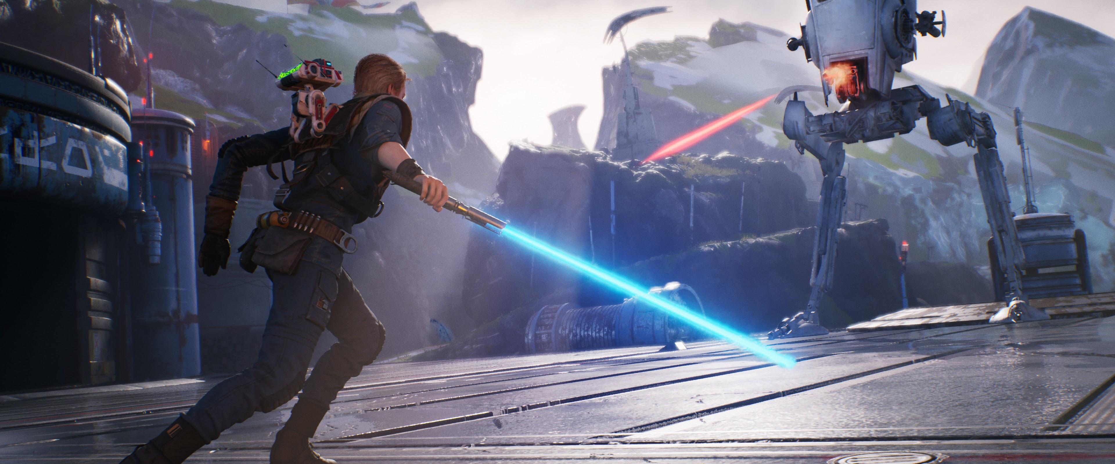 Star Wars Jedi Fallen Order Lightsaber 4k Wallpaper 21