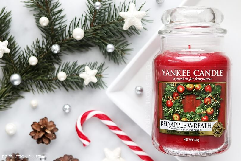 yankee candle red apple wreath