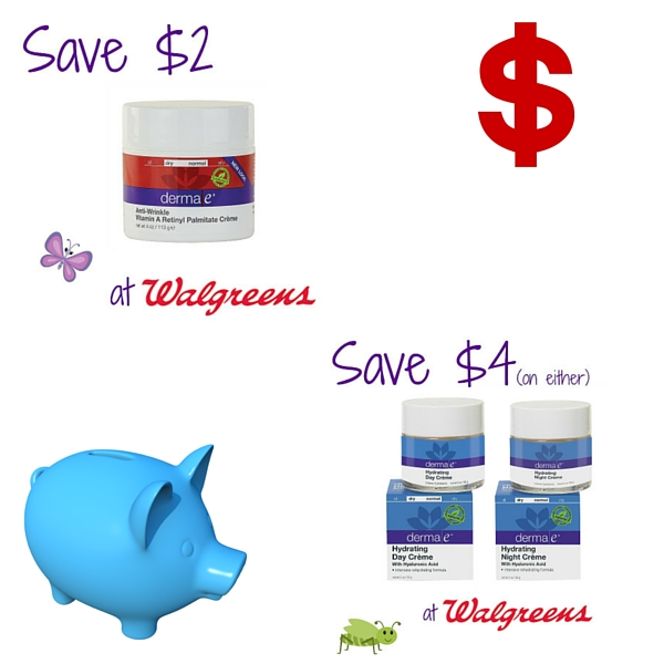 Save On derma e® At Walgreen's + Coupon Alert