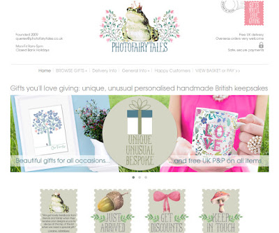 PhotoFairytales website online gift shop handmade gifts