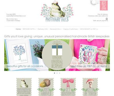 PhotoFairytales website online gift shop handmade gifts