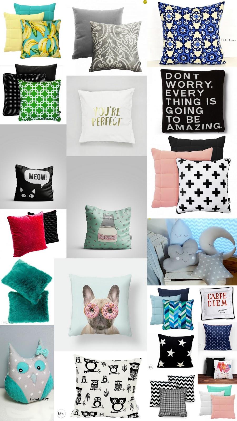 MIX INSPIRACJI #2: Poduszki, które ożywią każde wnętrze