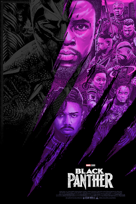 Black Panther Movie Poster Screen Print by Anthony Petrie x Grey Matter Art x Marvel