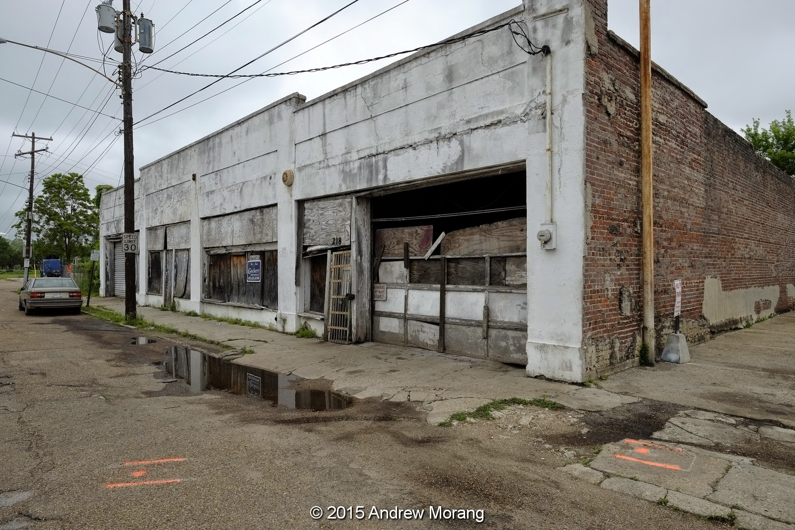 Urban Decay: Dilapidated Stores, Mill Street, Jackson