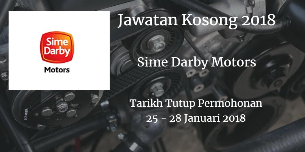 Jawatan Kosong Sime Darby Motors 25 - 28 Januari 2018