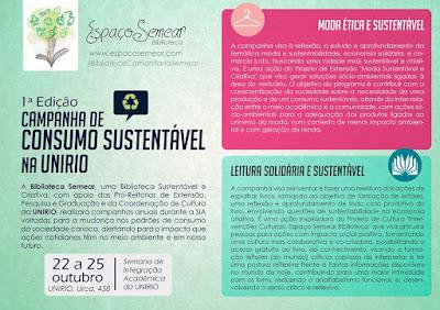 Campanha de Consumo Sustentável na Urca