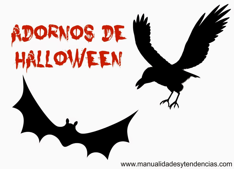 Murciélago y cuervo para Halloween
