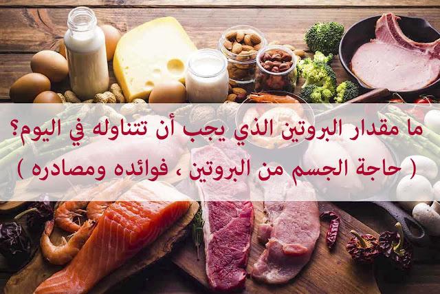 ما مقدار البروتين الذي يجب أن تتناوله في اليوم؟ ( حاجة الجسم من البروتين ، فوائده ومصادره )