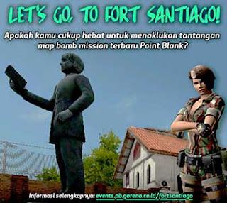 Website Event PB Garena Fort Santiago Hadiah Senjata Gratis Durasi 30 Hari