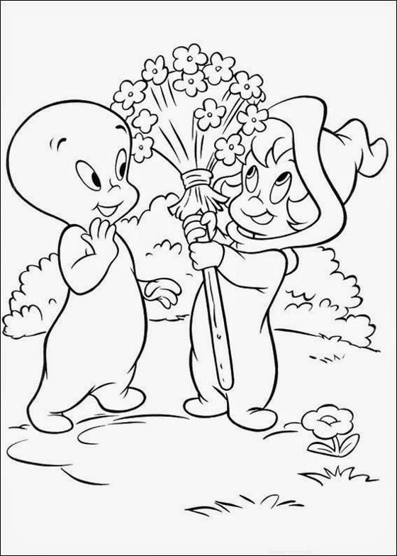 Desenhos do Gasparzinho para colorir pintar imprimir o