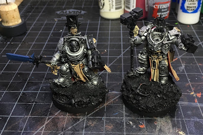 Grey Knight Characters WIP basing the details front