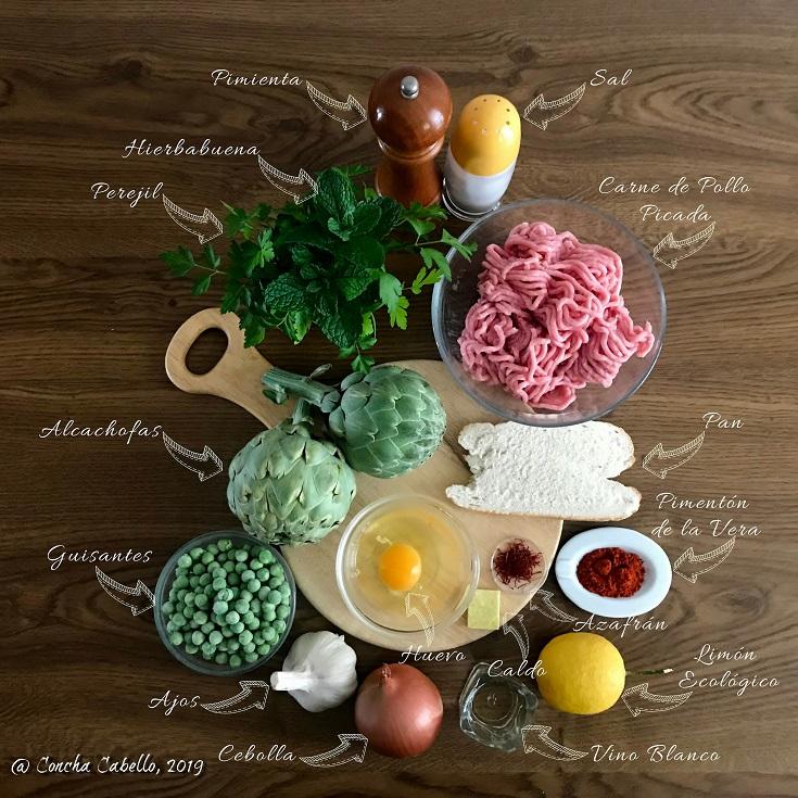 alcachofas-guisantes-azafrán-mise