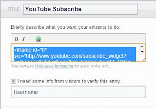 YouTube Subscribe Setup