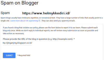 Cara melaporkan situs utama autovisitor blog