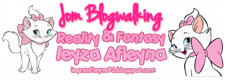 Jom Blogwalking By Ieyza Afieyna