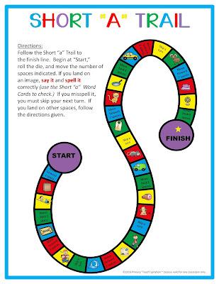 Short a CVC Word Work | FREE game board!