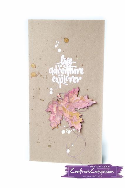 @olgakolov @crafterscompanion #aqua #watercolor @spectrumnoir #gildingwax #herbst #autunm #blätter #sarasignature #leaves #diecut