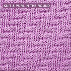 Rib And Welt Diagonals Pattern 2 Knitting In The Round Knit