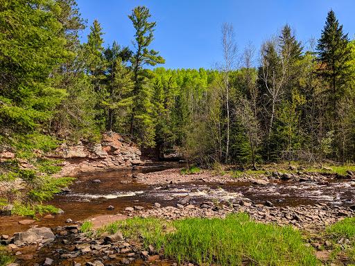 Amnicon River at Amnicon Falls State Park WI