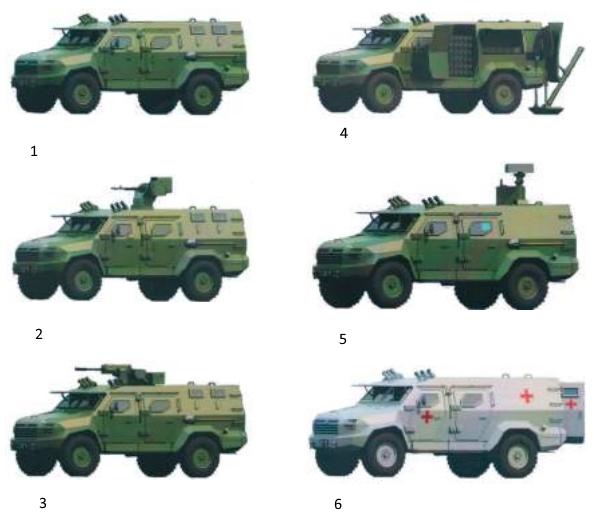 Бронеавтомобіль «Барс-8»модифікації