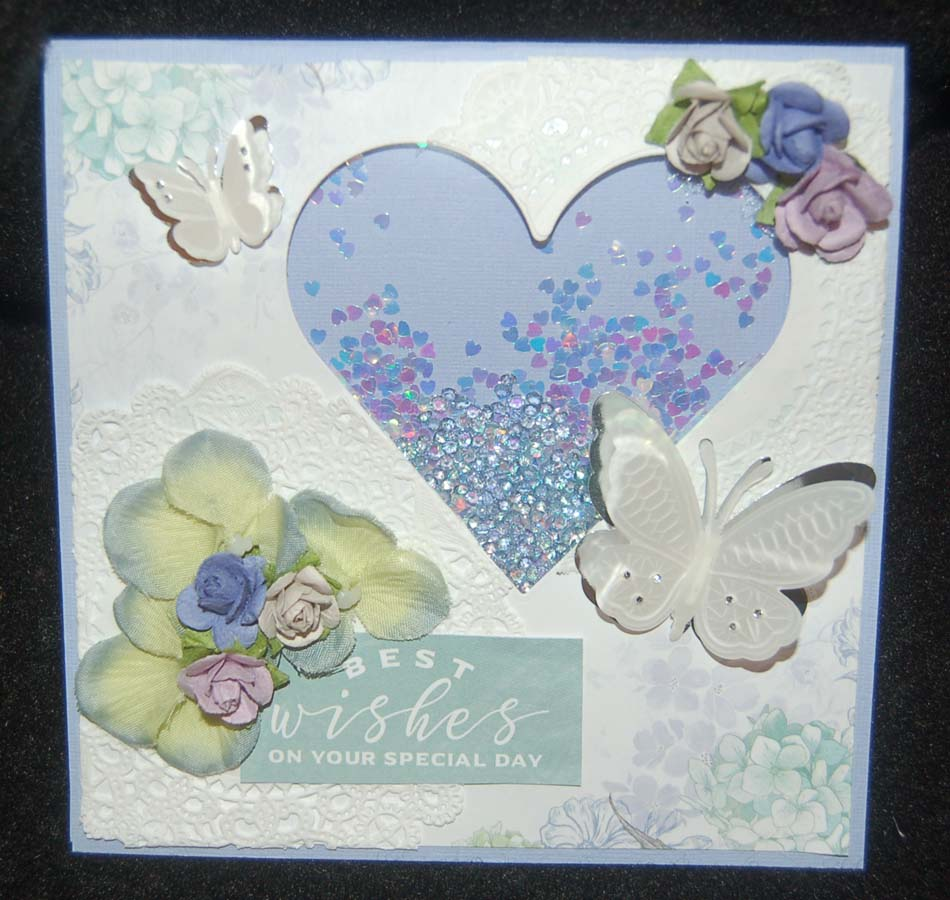 Lynns craft blog bridal shower shaker card a sweet niece is getting married soon so i wanted to make her a special bridal shower card my inspiration started from a kaiser craft paper pad that i kristyandbryce Image collections